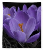 Flower Crocus Fleece Blanket