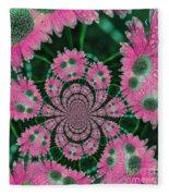 Flower Design Fleece Blanket