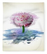 Flower Digital Art Fleece Blanket