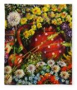 Flower Extravaganza Fleece Blanket