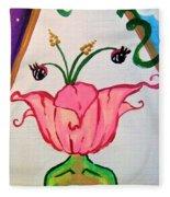 Flower Face Fleece Blanket