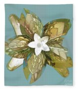 Flower Fantasy Fleece Blanket