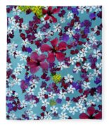 Flower Fantasy Guatemala Fleece Blanket
