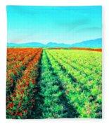 Flower Farm 1 Fleece Blanket