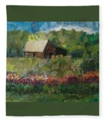 Flower Farm Fleece Blanket
