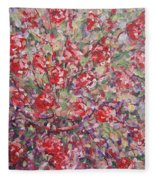Flower Feelings. Fleece Blanket