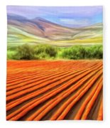 Flower Field Near Los Osos Fleece Blanket
