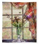 Flower - Flower - A Vase Of Flowers  Fleece Blanket