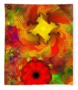 Flower Garden 8-27-09 Fleece Blanket