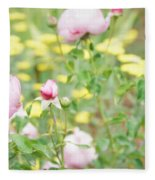 Flower Garden Bouquet Fleece Blanket