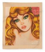 Flower Girl 2 Fleece Blanket