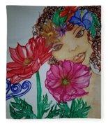 Flower Goddess  Fleece Blanket