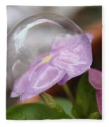 Flower In A Bubble Fleece Blanket