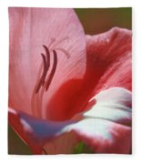 Flower In Pink Pastel Fleece Blanket