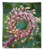 Flower In The Round Fleece Blanket