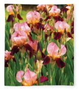 Flower - Iris - Gy Morrison Fleece Blanket