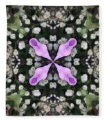 Flower Kaleidoscope_001 Fleece Blanket