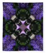 Flower Kaleidoscope_004 Fleece Blanket