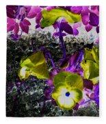 Flower Like Purple And Yellow Fleece Blanket