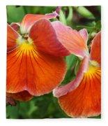 Flower Lips Fleece Blanket