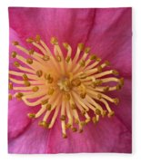 Flower Macro Fleece Blanket