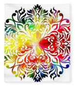 Flower Mandala 3 Fleece Blanket