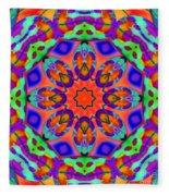 Flower Mandala 4 Fleece Blanket