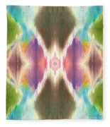Flower Mandala Fleece Blanket