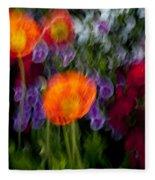 Flower Motion Fleece Blanket