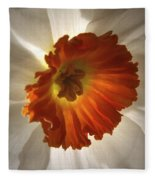 Flower Narcissus Fleece Blanket