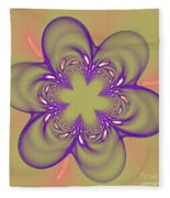 Flower Of Pink - Purple Fleece Blanket