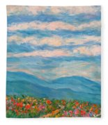 Flower Path To The Blue Ridge Fleece Blanket