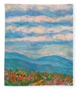 Flower Path To The Blue Ridge Fleece Blanket