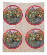 Flower Photo Globes Fleece Blanket