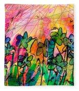 Flower Power Fleece Blanket