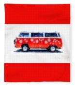 Flower Power Van Fleece Blanket