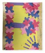 Flower Scene Fleece Blanket