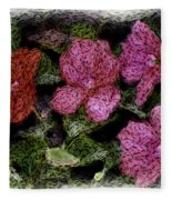 Flower Sketch Fleece Blanket