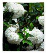 Flower Snow Balls Fleece Blanket