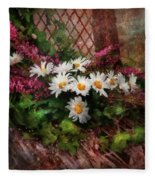 Flower - Still - Seat Reserved Fleece Blanket
