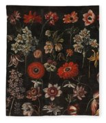 Flower Studies Fleece Blanket