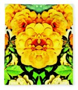 Flower Teddy Fleece Blanket