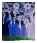 Flower Tree  Fleece Blanket