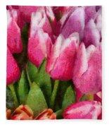 Flower - Tulip - A Young Girls Delight Fleece Blanket