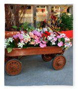 Flower Wagon Fleece Blanket
