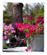 Flower Wagon Fleece Blanket