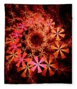 Flower Whirlpool Fleece Blanket