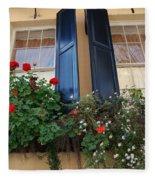 Flower Window In Charleston Sc Fleece Blanket