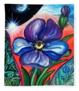 Flower With Eye. Plant From Space Fleece Blanket