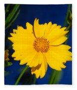 Flower Yellow Fleece Blanket